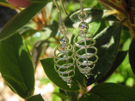 Haunted cosmic spiral Earrings Good luck and positive energy - $22.00
