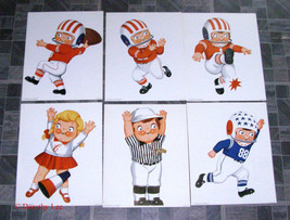 Campbells Kids Pictures Football Player Cheerle... - $18.98