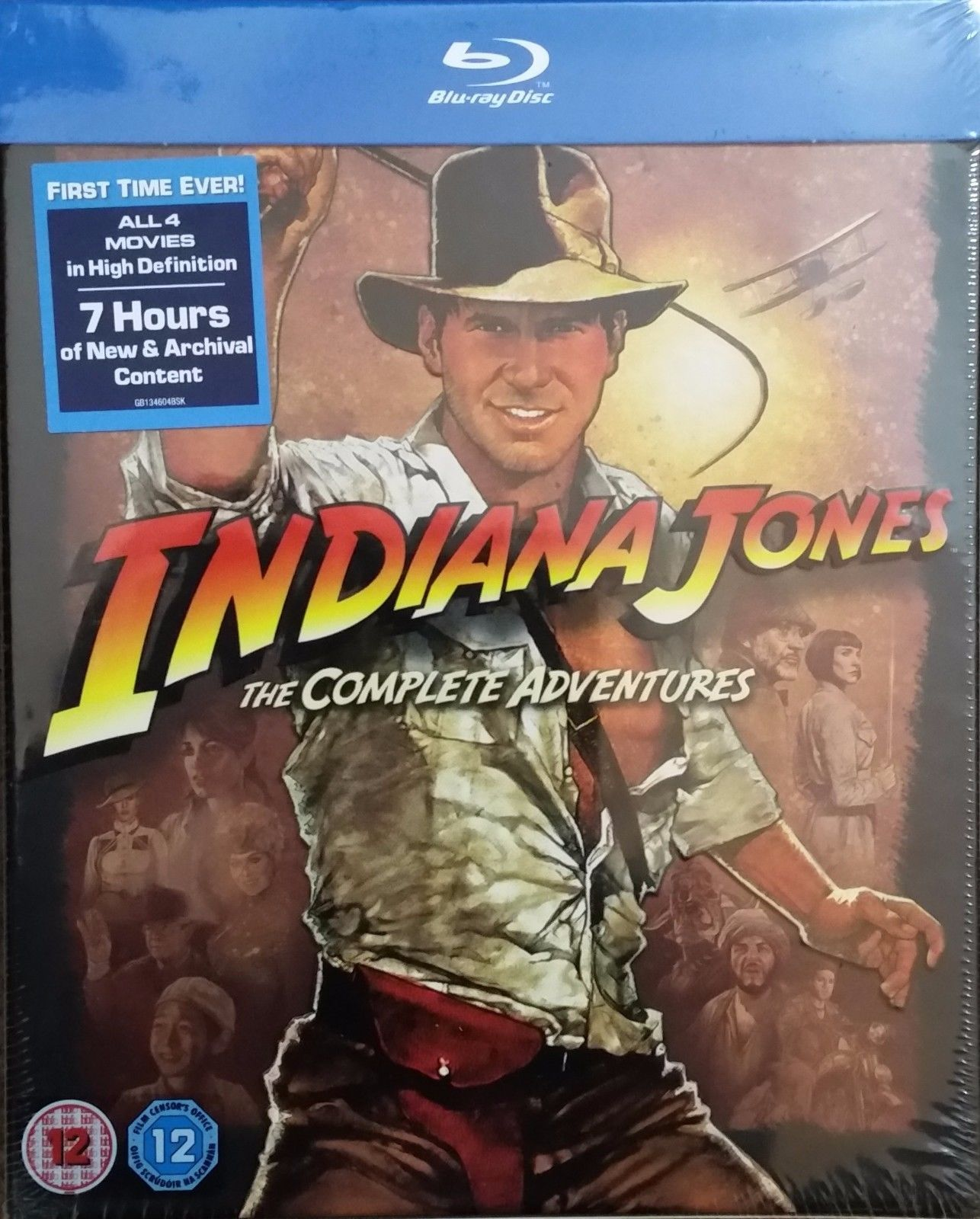 Indiana Jones The Complete Adventures (Blu-ray Disc Set) New Raiders of Lost Ark