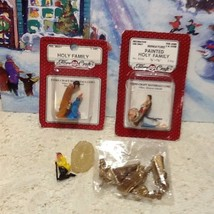 Vintage MIP Christmas Plastic Nativity Holy Family Miniatures New Fibrec... - $12.95