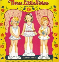 VINTAGE UNCUT 1943 THREE LITTLE SISTERS PAPER D... - $19.98