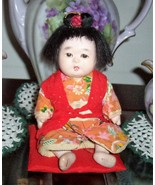 Antique ORIENTAL ASIAN JAPANESE BABY GIRL DOLL ... - $34.00