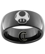 9mm Black Dome Tungsten Carbide Mario Mushroom ... - $49.00