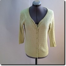 Talbots Green Cardigan Sweater Petite small - $19.27