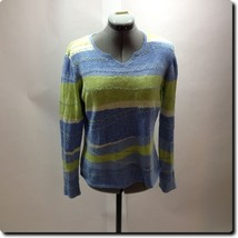 Talbots Blue and Green Textured Sweater small - $26.04