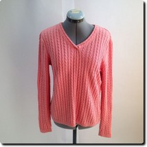 Talbots Coral V Neck Sweater small - $25.07