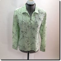 Tommy Bahama Green and Black Long Sleeve Top 2 - $22.17