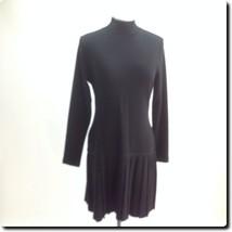 Andrea Jovine Pure Virgin Wool Classic Black Dress medium - $32.81
