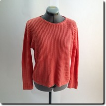 Closeout - Talbots Coral Crew Neck Sweater small - $14.50