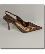 Kathy Van Zeeland Bronze Decorated Pointed Sling Back - $19.27