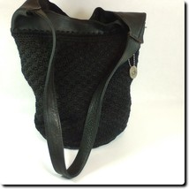 The Sak Black Macrame Knit Bag - $33.78