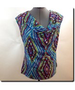 Sunny Leigh Colorful Draped Top - $15.45