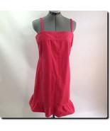 Tommy Hilfiger Jeans Coral Spaghetti Strap Denim Dress 10 - $26.99