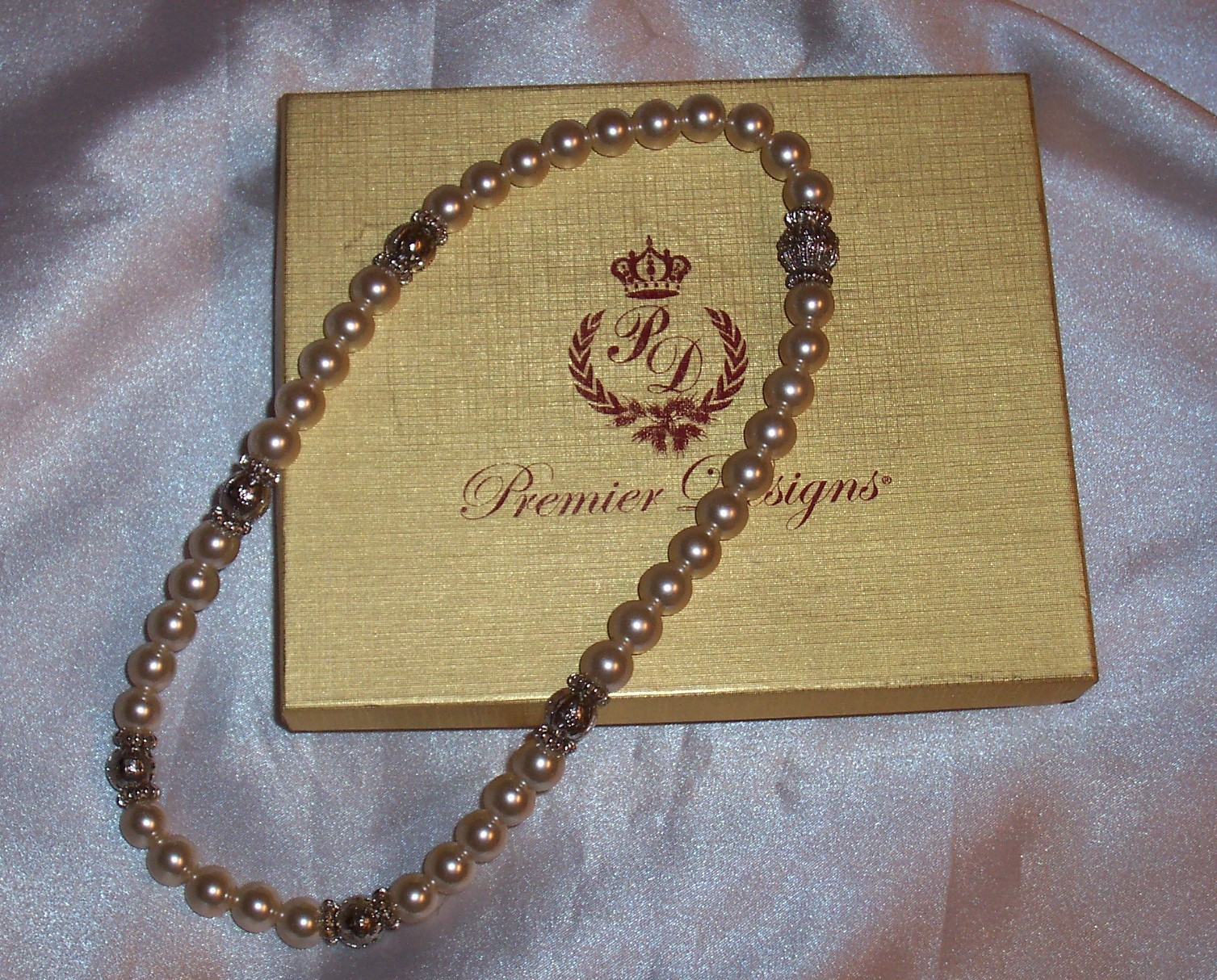 Premier Designs Jewelry AUDREY Pearl Necklace/ New in Box