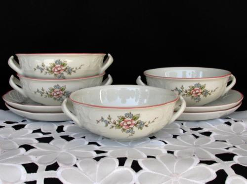 12 & Villeroy \u0026 Boch Rosette Flat Cream Soup Bowl and 50 similar items