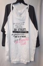 New Torrid Womens Plus Size 6X The Breakfast Club Quote Raglan Tee Shirt Top - $26.11