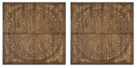 PAIR BOHEMIAN HOME DECOR WALL PLAQUE PANEL ART  - $875.60