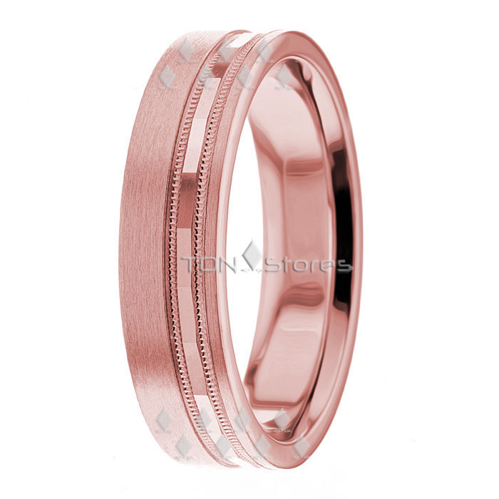 14K White Rose Gold Wedding Bands Rings Mens Womens Two Tone Wedding Band Ring