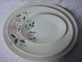Vintage Knowles Pink and White 3 Platter Set - $52.46
