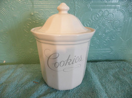 Pfaltzgraff Cookie Jar White USA Dog Treats Container Storage Canister - $38.61