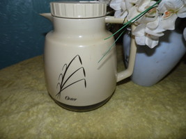 Vintage Oster Thermos Coffee Tea Other Plastic Wheat Beige Carafe - $16.82