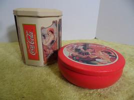 Vintage Coca Cola Collectible Tins  Pair  Set  Soda Pop Drinks  - $14.80