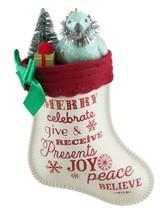 The Joy of Giving 2016 Hallmark Ornament Christmas Stocking Joy Peace Be... - $16.73