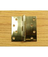 "Solid Bright Brass 4""x4"" Square Corner Door Hinge - $11.20"