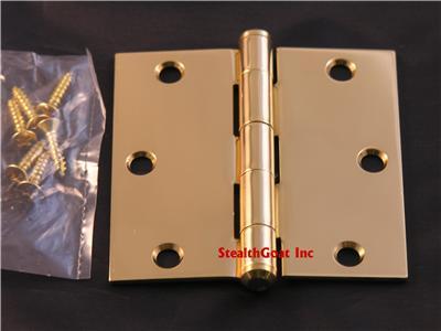 """Solid Brass 3 ½"""" Door Hinge Lifetime Brass"""