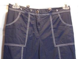Pant Slacks Oleg Casini Navy Blue  Capris Cargo Pants Medium - $24.75