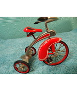 Hallmark Kiddie Car Classic 1997 De Lux  Velocipede Red Tricycle  QHG6319 - $39.59