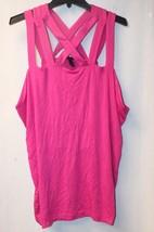New Lane Bryant Womens Plus Size 4X 26W 28W Pink Criss Cross Tank Top Shirt - $19.33
