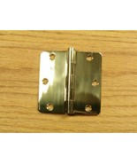 "Polished Solid Bright Brass 3 1/2"" Door Hinges 1/4"" rad - $11.00"