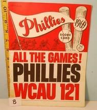 1969 Philadelphia Phillies Baseball Scorecard vs Cincinnati Reds #B Rose... - $8.90