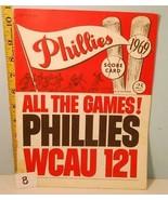 1969 Philadelphia Phillies Baseball Scorecard vs Cincinnati Reds #B Rose... - $3.95