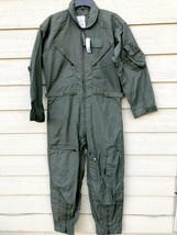 NWT US AIR FORCE NOMEX FIRE RESISTANT FLIGHT SUIT GREEN CWU-27/P - 40R - $123.75