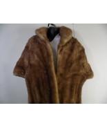 Vintage Fur Mink Stole Cape Wrap The Up To Date Co. Camel, Carmel Colored - $148.49