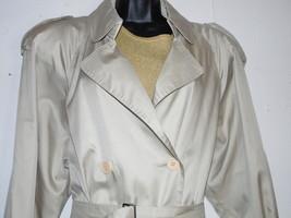 Count Romi Trench Coat 10 Shiny Tan Beige Double Breasted Rain Coat - $59.39