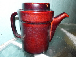 Rare Pfaltzgraff   Dark Brown Teapot Coffee Pot 490 Redware - $24.74