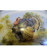 Vintage Turkey Platter Gray Border  Medium Size   - $14.84