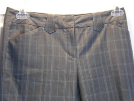 Plaid Pant Slacks Express Studio  Editor Size 4  Blue Gray Tan White  Checks - $24.75