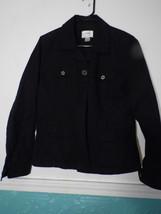 Christopher Banks Small Black Jacket Blazer Stretch Black  S Cotton Blend - $27.71