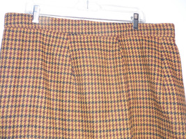 Size 2X Skirt   Hounds Tooth  Knee Length  Brown Black  Checked Winter  ... - $19.78