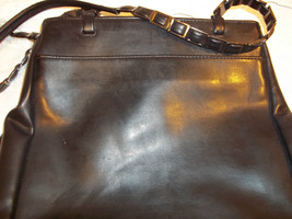 Nine West Black Faux Leather Purse with  Decorative  Metal Chain Strap - $38.60