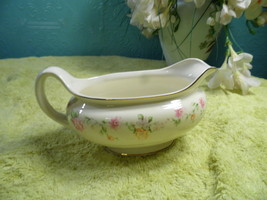 Vintage Homer Laughlin  Egg Shell Nautilus  Gravy Boat   H 40 N 5  - $9.89