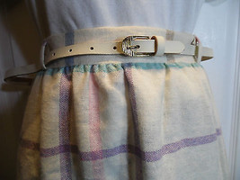 Vintage Plaid Check Plus Size 8 Blue White Pink Lavender Purple Above Knee Ilyza - $29.69
