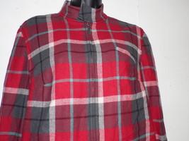 Evan Picone  10 Front Zip Jacket Shirt Plaid Re... - $29.69