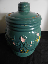 Red Wing Figural  Peasants Green Cookie Jar Can... - $77.22