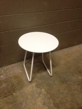 """Home Decorators Collection Accent End Side Table White 20"""" Round 22.5"""" Tall - $28.04"""
