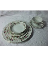 Vintage, Dinnerware, Creative Regency, Rose,Dish Set, Pink, Green, White - $118.79